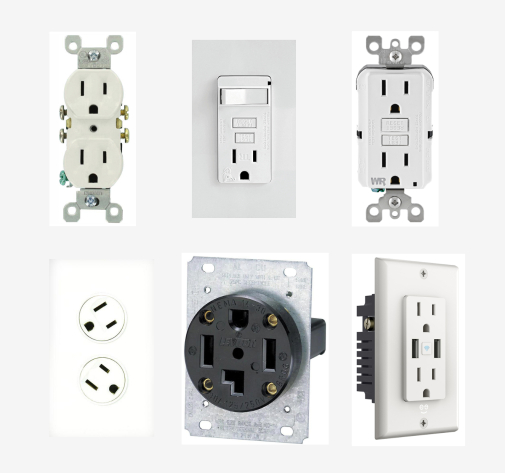 8 Types of Electrical Receptacles / Outlets in A House
