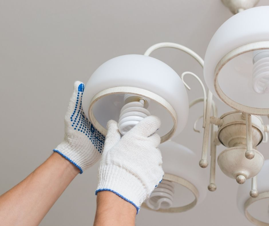 Ask an electrician about the benefits of using energy-efficient light bulbs.